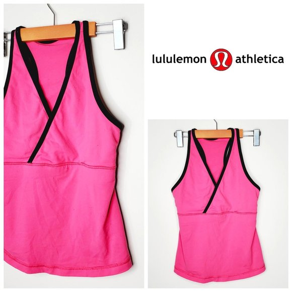 LULULEMON Hot Pink Racerback Cross Front Tank Top